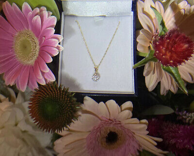 AU165 • Buy 9ct 6mm Crystal Ball Pendant On A Prouds 9ct Yellow Gold 45cm Cable Chain