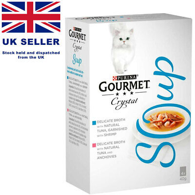 Gourmet Soup Tuna And Shrimp Refined Broth - (4x40g) NEW • 7.99£
