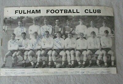 £13.50 • Buy Fulham FC Team Photo 1967-68 Signed By 9 Players