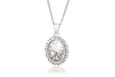 Welsh Clogau Silver & Rose Gold Looking Glass Inner Charm Pendant £90 OFF! • 69£