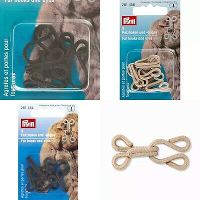 £3.70 • Buy Prym Fur Covered Hooks And Eyes, Pack Of 3. Choice Of 4 Colours!
