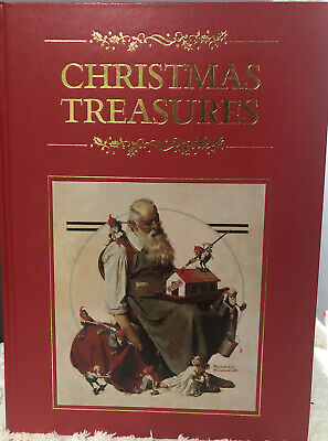 $ CDN31.84 • Buy Christmas Treasures Book Color Plates Norman Rockwell Gold Edge Pages
