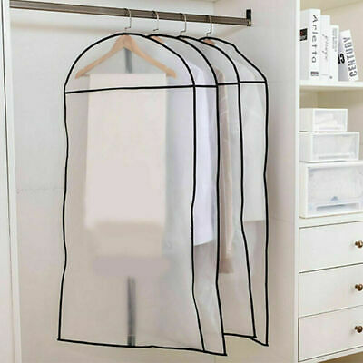 5pc Garment Cover Clothes Cover Storage Coat Bag With Zip Long Dress Cover Bag  • 20£