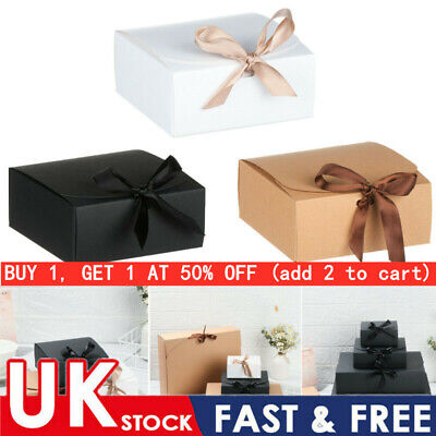 £8.22 • Buy 5XSquare Kraft Paper Box Cardboard Package Valentine's Day Gift Candy Storage