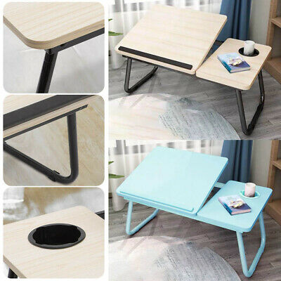 Folding Laptop Bed Table Portable Stand Computer Desk Sofa Lap Tray Stable Desk • 13.39£