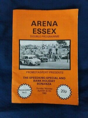Arena Essex Banger/Stock Car/Hot Rod Programme Speed King Special 1980 • 1£