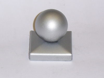 £12.50 • Buy 2 X Metal Gate Post Cap For 100mm Square Post With 10mm Flange And A 80mm Ball