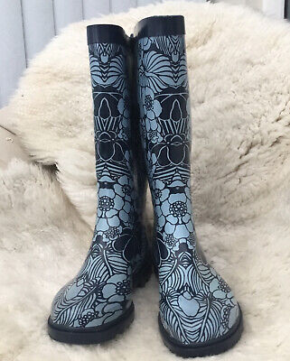 Women's Mantaray Blue Flowered Wellies - Size UK 4 • 5.19£