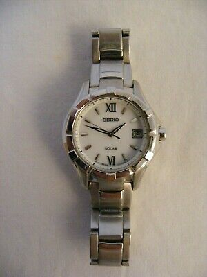 Ladies Seiko Solar Watch - Water Resistant Silver Tone Unboxed Working • 9.50£