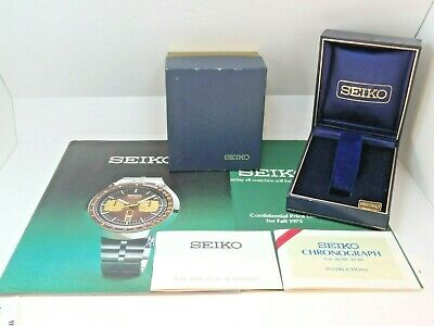 $ CDN343.35 • Buy Very Rare Vintage Seiko Pogue  6139-6005 Ah035m Collectors Provenance Package