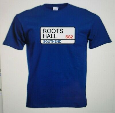 Southend United FC Roots Hall Street Sign Football T-Shirt - Brand New In Bag • 3.99£