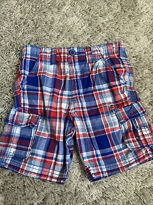 Boys George Blue Checked Shorts Age 2-3 Years • 1.50£