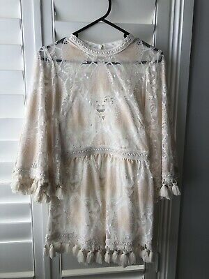AU76 • Buy Alice Mccall Young Hearts Playsuit Shell Pink Size 6 RRP $360