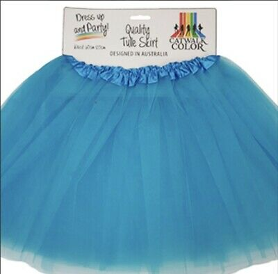 AU13 • Buy Tulle Tutu Skirt 80s Colour Women Costume Aqua Blue Sport Team Carnival