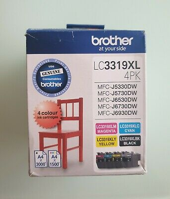 AU149 • Buy Brother Lc 3319xl Ink Cartridges 4 Colour Value Pack (GENUINE)