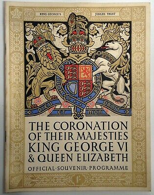 Coronation Of King George IV Official Souvenir Programme (1937) • 9.99£