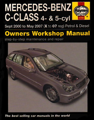 Mercedes Benz C-class Petrol And Diesel Service And Repair Manual: 2000 To 2007  • 7.53£