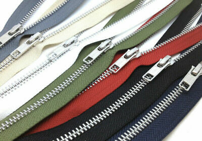 £2.85 • Buy YKK NO.5, 20cm Close Ended Zip, SILVER Metal Teeth, Choice Of 36 Tape Colours!