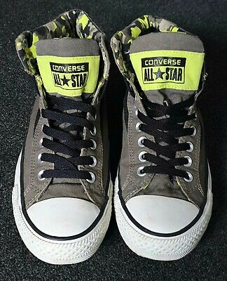 Converse Men High Top Neon Military Camouflage Style Uk 7.5  Rare (worn Once)  • 19.99£