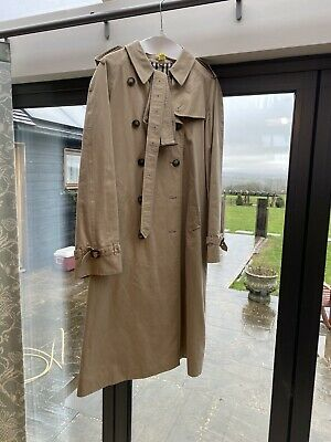 Burberry Women's Trench Coat - Beige, Size 14 Virtually Unworn. Excellent Cond. • 65£