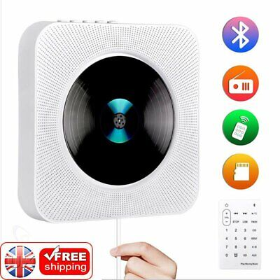 Portable Wall Mountable Bluetooth CD Player USB HiFi Speaker Remote Control Gift • 36.89£