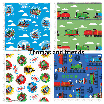 £2.75 • Buy Patchwork/craft 100% Cotton Fabric Thomas The Tank Engine & Friends Trains