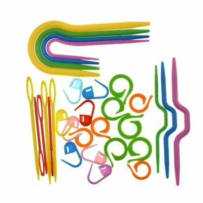 £3.69 • Buy Plastic Cable Needles Stitch Markers Set For Knitting Crocheting Sewing 53Pcs