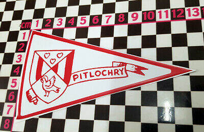 £2.99 • Buy 1960's Style Pitlochry Scotland Holiday Pennant -  Classic Car Window Sticker