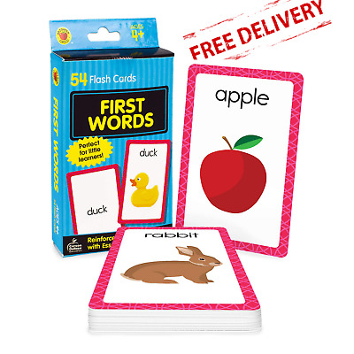£3.90 • Buy Baby Book First Words Picture Kids Educational Flash Cards Pre School Learning