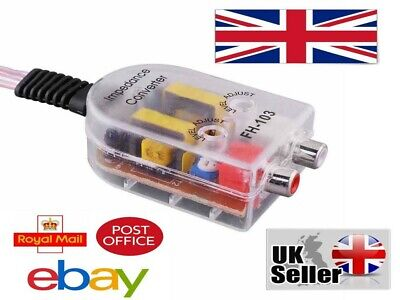 £5.89 • Buy Speaker Line To RCA 2 Channel Converter Line Output Convert Factory Signal 2021
