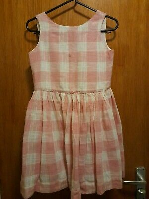 Pink And White Checked  Summer  Dress Jigsaw Junior  Age 8/9  • 1.10£