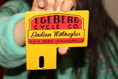 $ CDN12.65 • Buy Indian Motorcycle License Plate Topper Gas Oil Porcelain Metal Sign