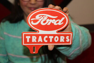 $ CDN12.65 • Buy Ford Tractors Farm Feed & Seed License Plate Topper Gas Oil Porcelain Metal Sign