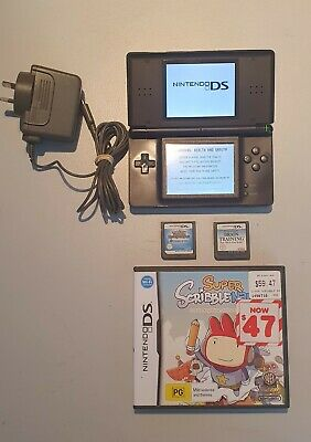 AU90 • Buy Nintendo DS Lite Console (Black) With Official Charger And 3 Games - Pokemon EoT