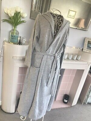 Pure Collection 100% Cashmere Dressing Gown - Size S (8/10) - Grey  • 125£