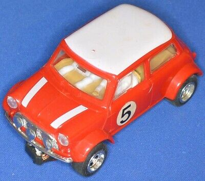 Scalextric C/7 - Mini Cooper, (red, White Roof - Racing No.5) • 28£