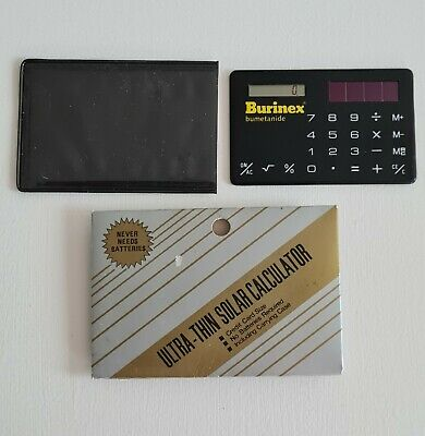 Burinex Bumetanide Ultra-Thin Solar Calculator Credit Card Size With Case. • 2.99£