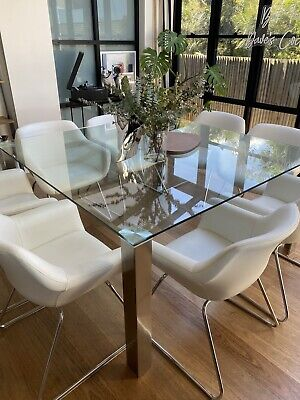AU500 • Buy Glass Dining Table And 8 Chairs