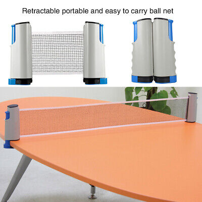 Portable Table Tennis Net Set Ping Pong Net Rack Stand Ball Training Home Sport • 11.95£