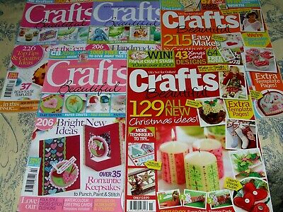 5 X Crafts Beautiful Magazines Issues 233/211/321/215/213 Vgc • 5£