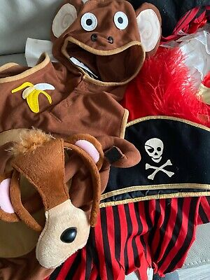 Childrens Fancy Dress Up Pirate And Monket Out Fits 3 - 5 Years 3 - 4 • 0.99£