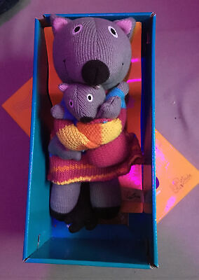 """Latitude Enfant Knitted Granimal Toy New - """"Woolly Mummy And Me"""" • 6.50£"""