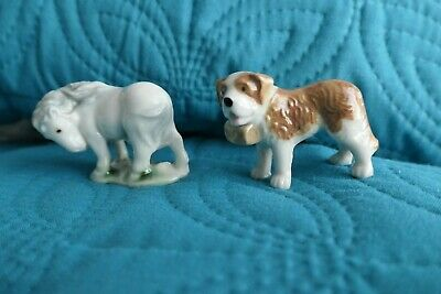Wade Whimsies St Bernard Dog & Shetland Pony  - Both 1950s First Whimsies • 14£