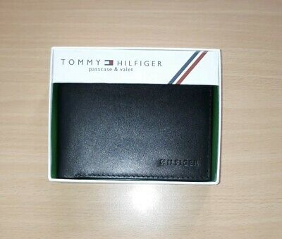 £17.99 • Buy Mens Leather Wallet 'Tommy Hilfiger' Black , Bifold, Coin Pouch, Card Slot