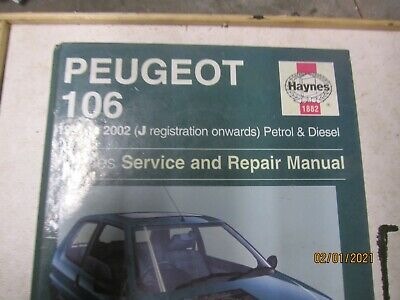 Haynes Service And Repair Manual Peugeot 106  1991 To 2004 • 3.50£
