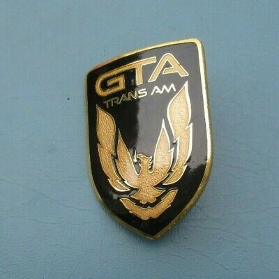 $49.99 • Buy Pontiac 1987 88 89 90 Trans Am Gta Front Bumper Emblem Gm Trim Black Gold