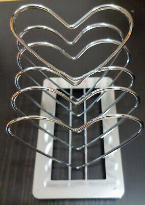 £6.99 • Buy Romantic Couple Toast Rack - Heart Shape - Breakfast In Bed - Free Fast Delivery
