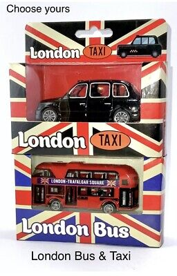 £10.49 • Buy RED LONDON BUS & TAXI Car Toy Children For Kids Gift Souvenir Double Decker-New