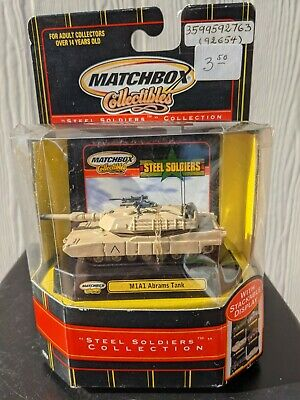 $25 • Buy 2000 Matchbox Collectibles Steel Soldiers Collection M1A1 Abrams Tank NIB