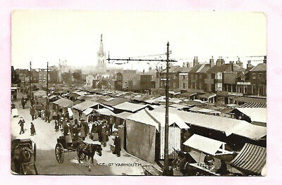 Market Place Great Yarmouth Norfolk Real Photo Postcard  • 0.50£